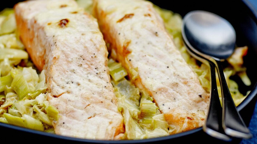 Recette saumon poireaux : découvrez les recettes de ...