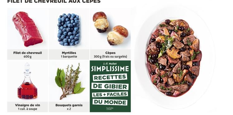 Filet de chevreuil aux cèpes Simplissime