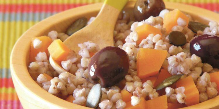 Salade de sarrasin aux olives noires