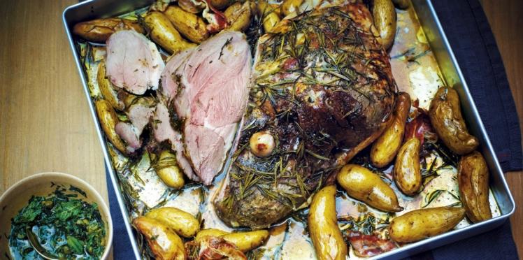 Gigot d'agneau et pommes de terre