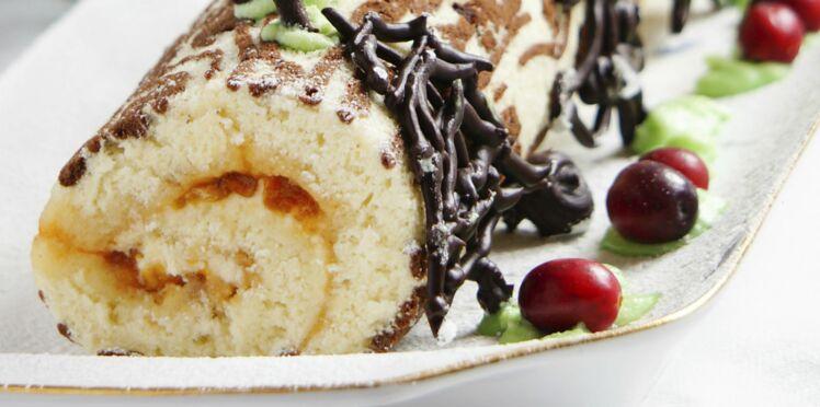 Bûche mangue - chocolat blanc