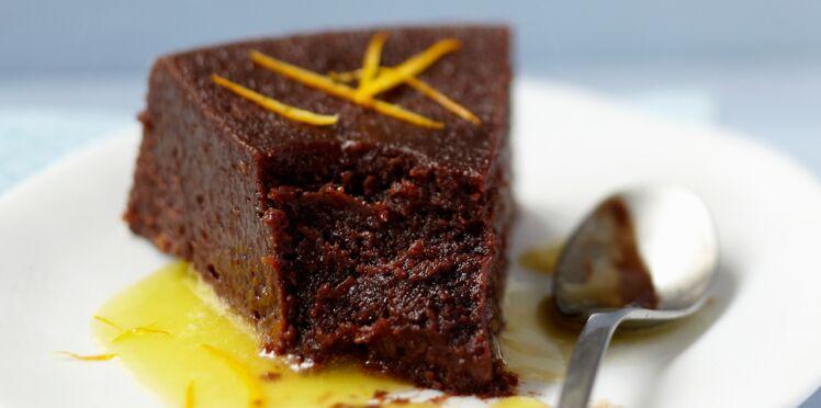Gâteau au chocolat et à l'orange express