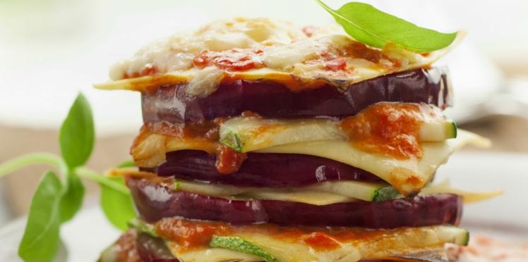Lasagnes aubergines et courgettes