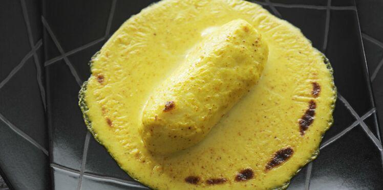 Quenelle de brochet gratinée au curry