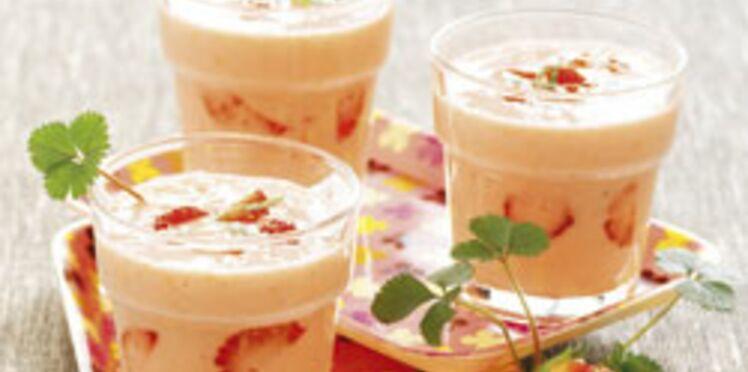 Petits milk-shakes aux fruits et au miel
