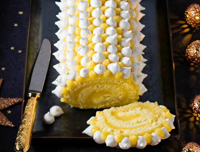 Menu audacieux - Tarte au citron-basilic meringuée, comme une bûche