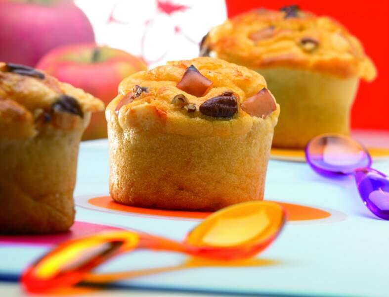 Muffins au Beaufort, noix et pommes