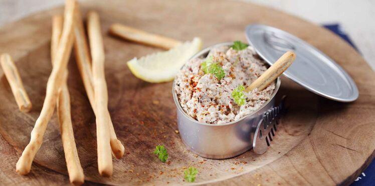 Tartines de Rillette de Sardine au Fromage Fouetté
