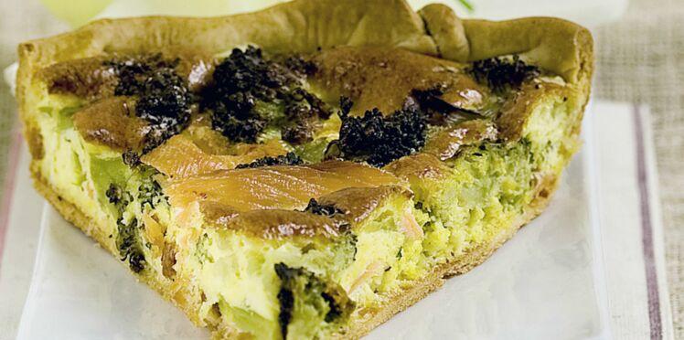 Tarte saumon-brocolis