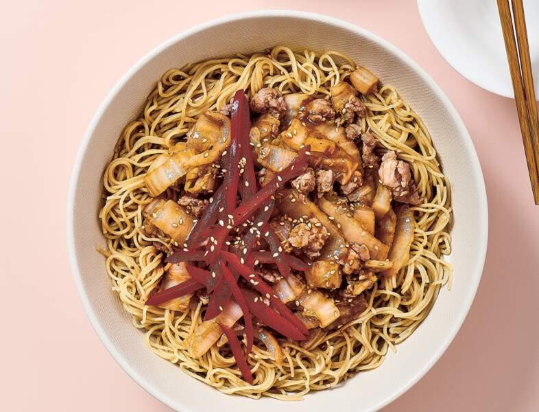 Bolognaise à la chinoise en 7 minutes