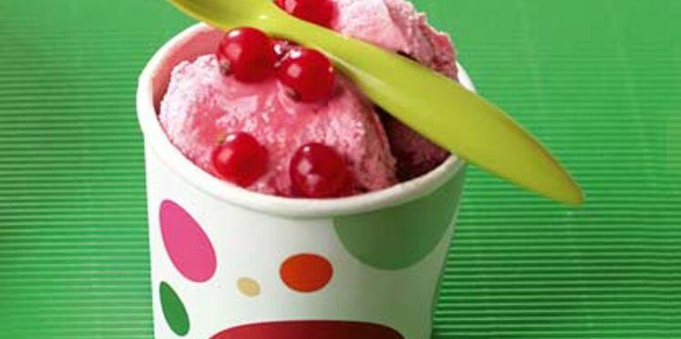 Crème glacée grenadine