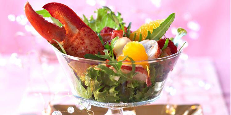 Salade de homard aux framboises