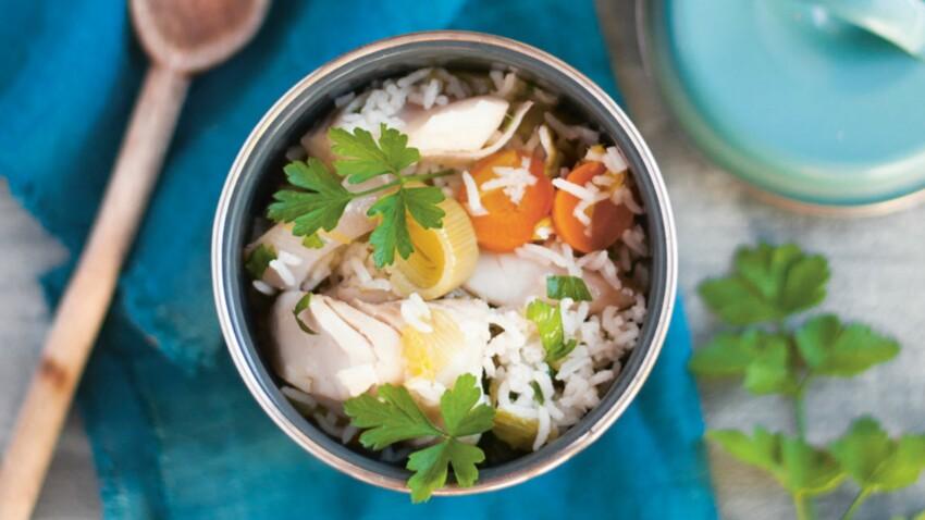 Salade de riz « qui change »