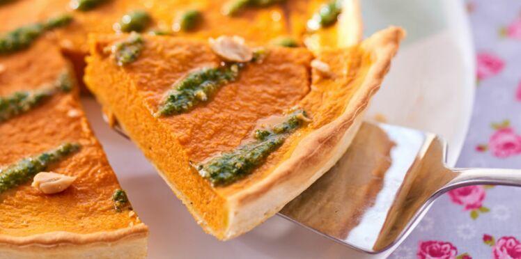 Tarte aux carottes nouvelles, coco et coriandre