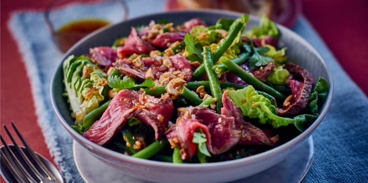 Salade de bœuf grillé et haricots verts façon thaï