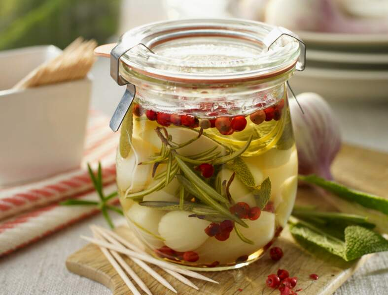 Pickles de gousses d'ail