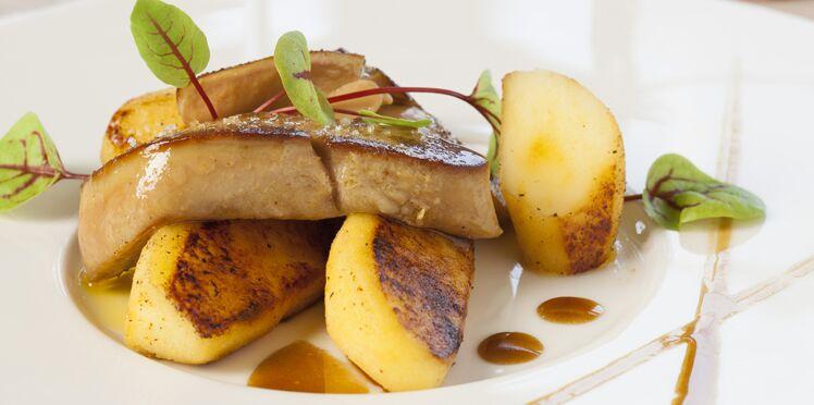 Foie gras de canard et pomme ariane aux épices grillées