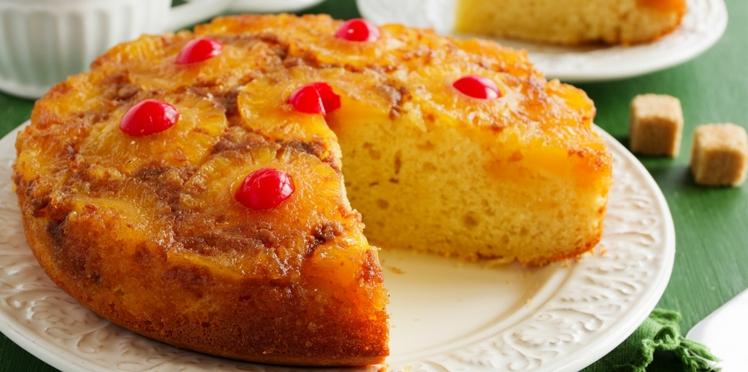 Gâteau à l'ananas et aux amandes