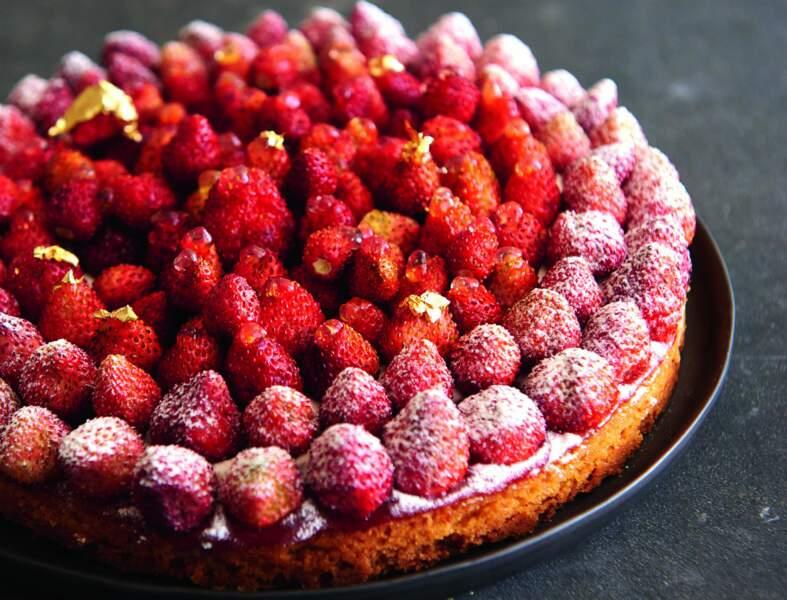Tarte Rosalie aux fraises des bois