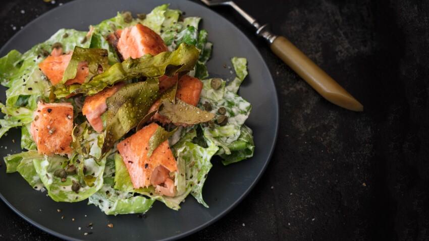 Salade César au lard d'algue