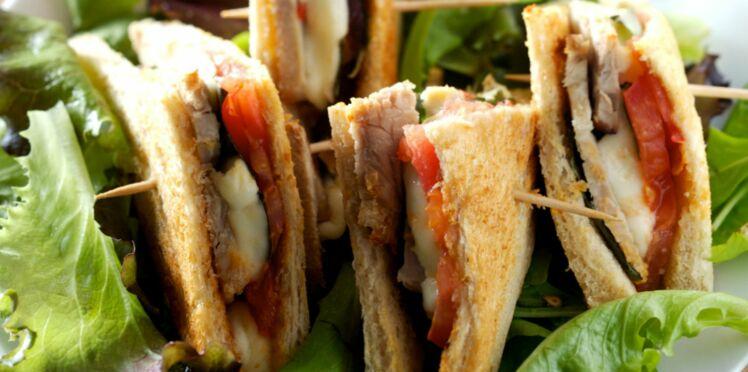 Club-sandwich veau, mozzarella, tomate