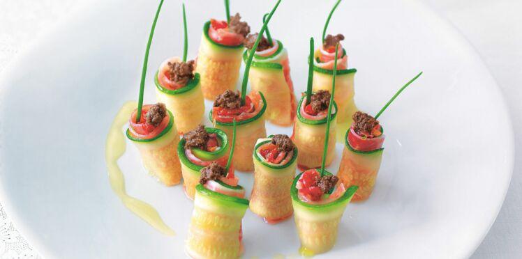Makis de légumes au jambon de pays