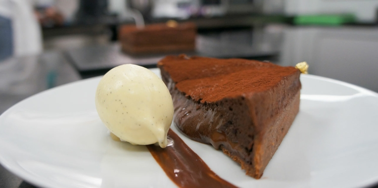 La tarte au chocolat soufflée