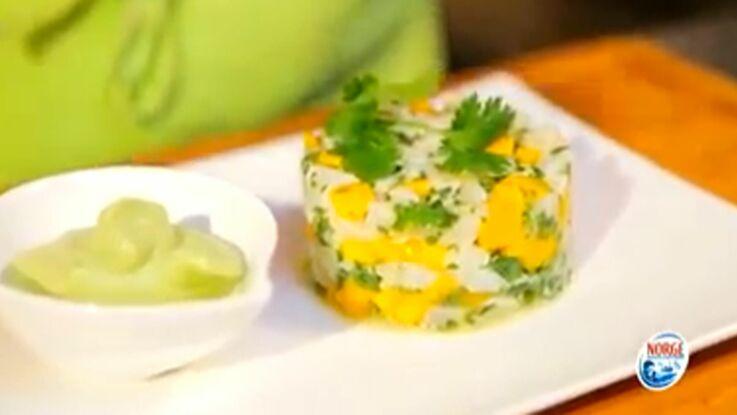 La recette du tartare de cabillaud de Norvège,avocat mangue