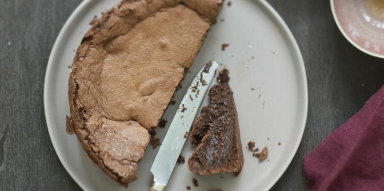 Gâteau au chocolat fondant au beurre salé