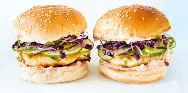 Burger aux crevettes et tarama