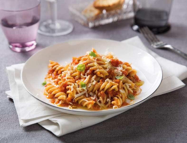 Fusilli sans gluten Barilla aux tomates cuisinées