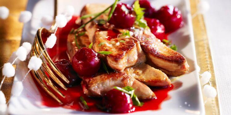 Foie gras poêlé, sauce griottes et balsamique
