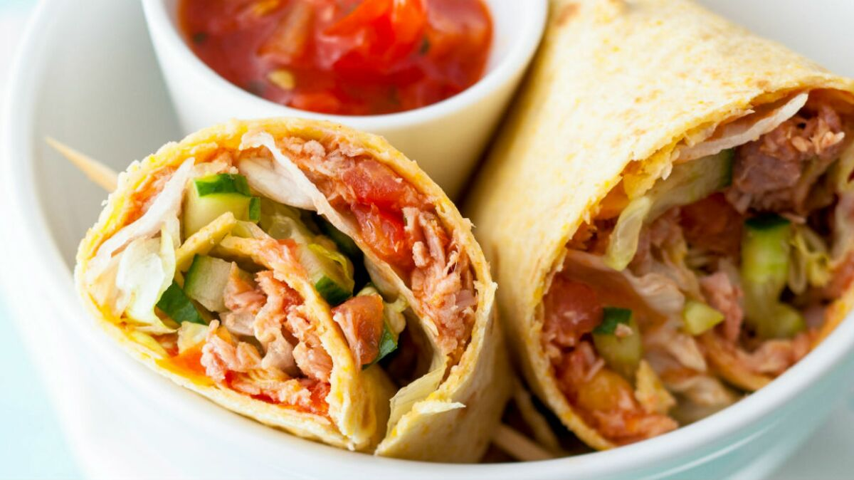 Wrap au thon, sauce salsa