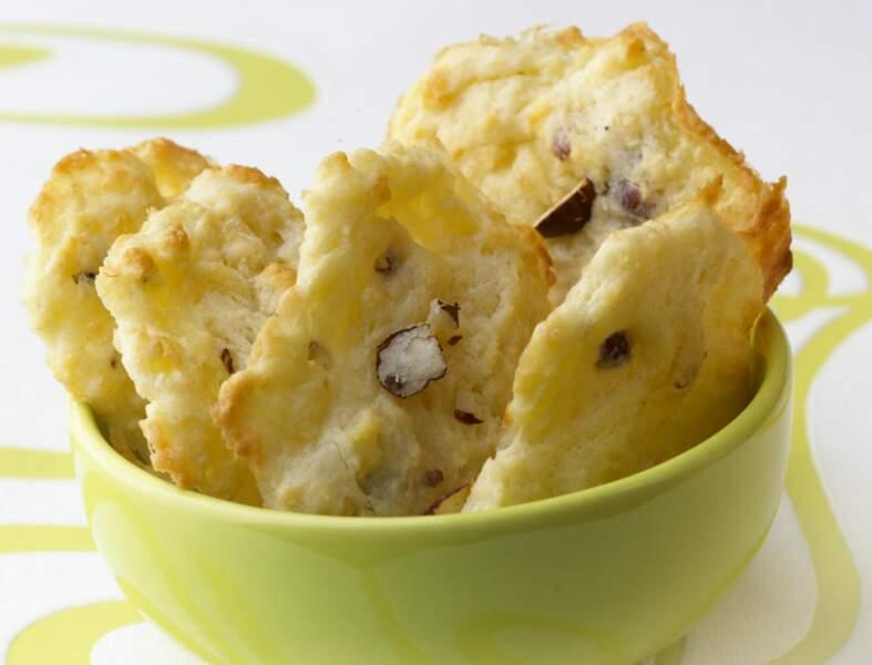 Cookies au roquefort et aux noisettes