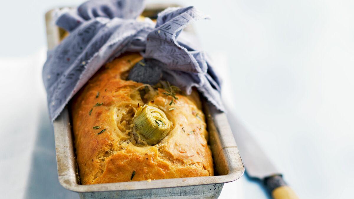 Cake salé thon-olives-artichaut de Laurent Mariotte