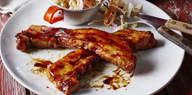 Poitrine de porc rôtie teriyaki