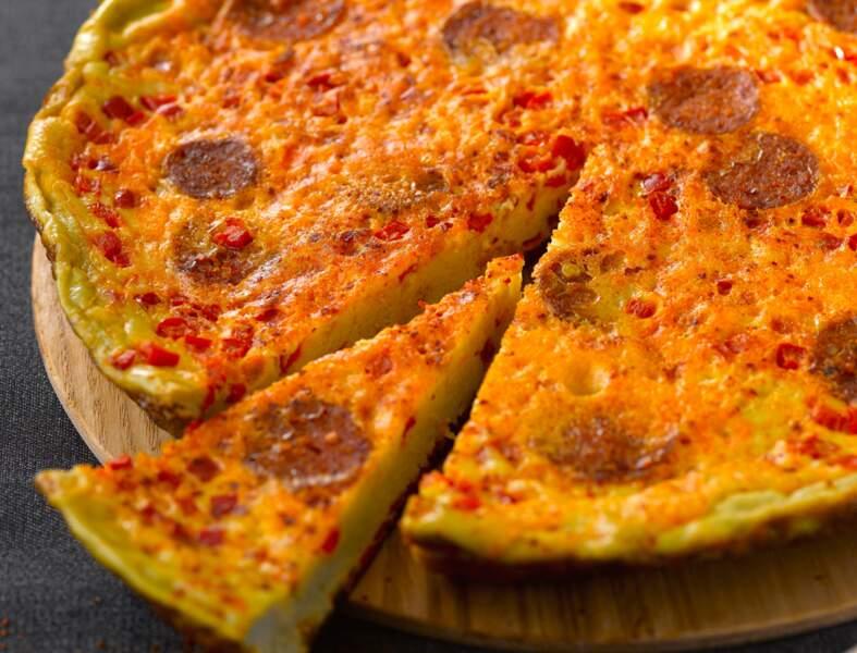 Omelette au chorizo