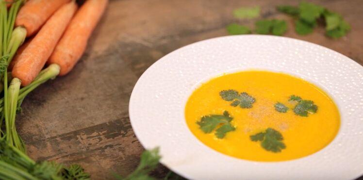 Soupe de carotte et lait de coco et coriandre facile