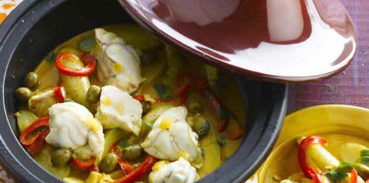 Lotte aux olives et rattes