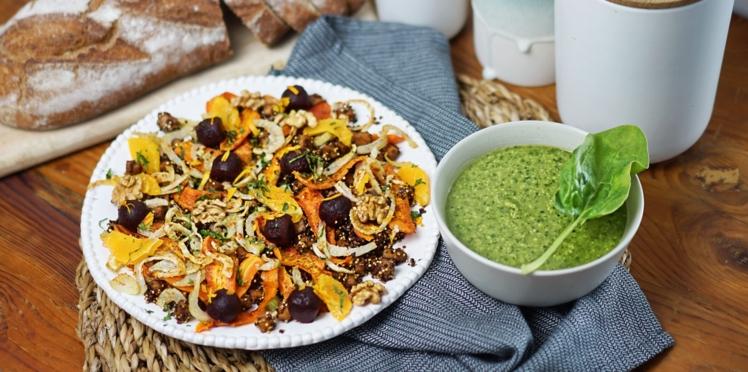 La salade de quinoa croustillant