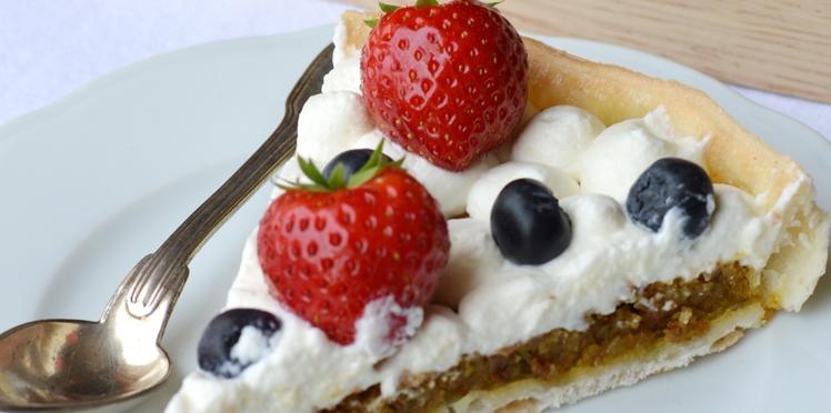 Tartes pistache - fruits rouges sans gluten et sans lactose