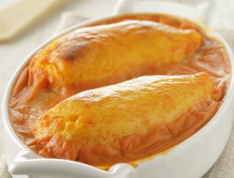 Gratin de quenelles à la tomate