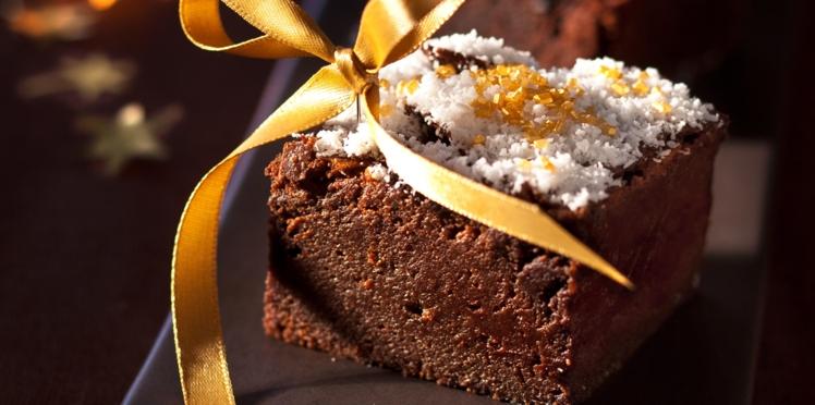 Brownie chocolat, café et coco