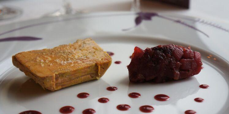 Terrine de foie gras de canard, confit de fruits épicés par Guy Martin