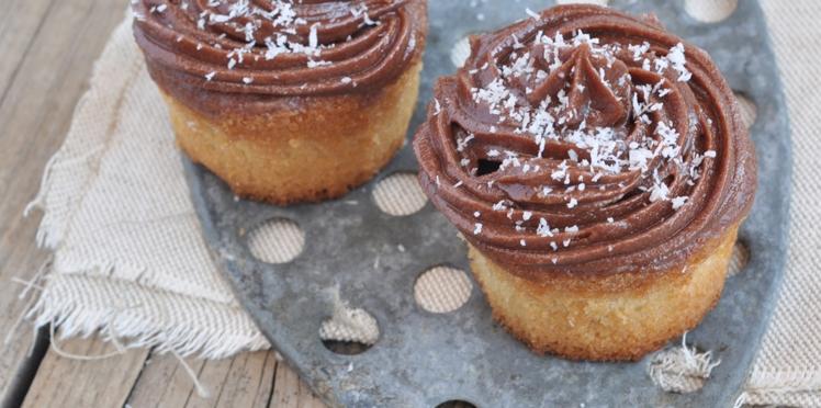 Muffins à la noix de coco et ganache chocolat