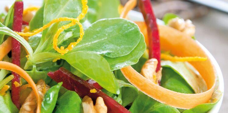 Salade de mâche aux zestes d'orange
