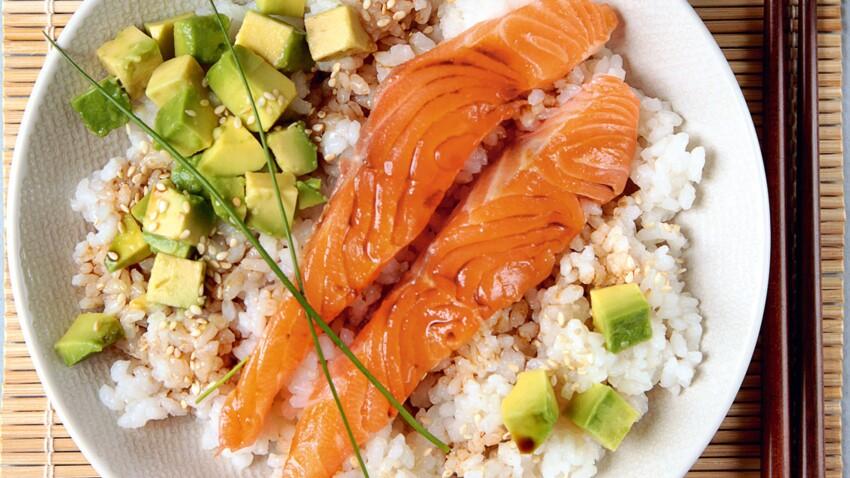 Riz façon sushi au saumon et à l'avocat de Sophie Dudemaine