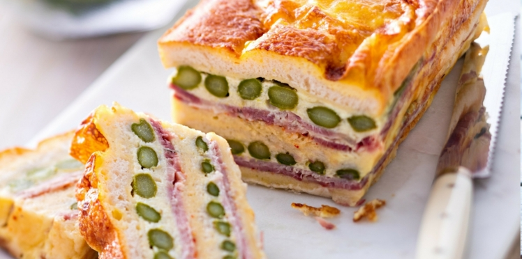 Croque-cake aux asperges