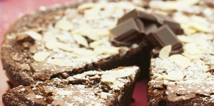 Fondant au chocolat et aux amandes