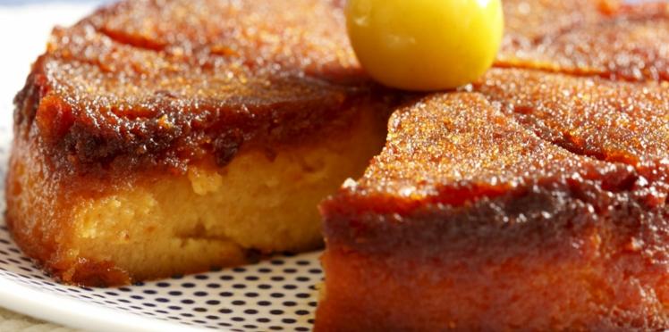 Gâteau renversé aux mirabelles caramélisées